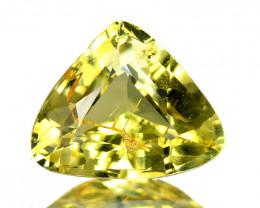 1.25 Cts Natural Lime Yellow Chrysoberyl Trillion Cut Sri Lanka