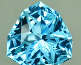 ~CUSTOM CUT~ 9.04 Cts Natural Blue Topaz Fancy Trillion USA