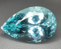 52.20 cts~Surprising Outstanding Natural Apatite neon bluish green