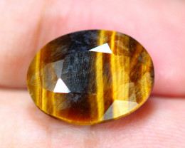9.35Ct Natural Tiger Eye Faceted Oval Cut Lot LZ7973