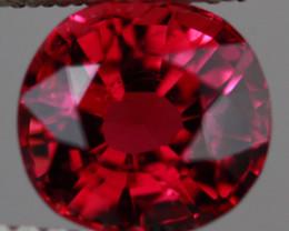 $300 2.00CT 7X7MM Rosewood Pink!! Natural Mozambique Tourmaline-TA151