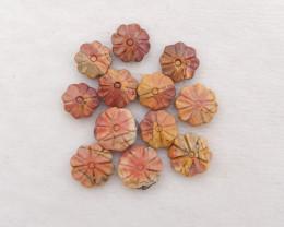 D1746 - 42.5cts Multi-Color Picasso Jasper Cabochons,Natural Gemstone,Carve