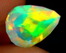 Welo Opal 2.14Ct Master Cut Natural Ethiopian Neon Flash Welo Opal A2926