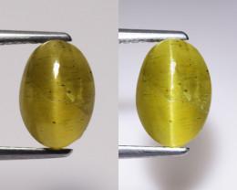 3.17Ct Natural Apatite Cat's Eye Beautiful Gemstone. CE 06