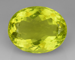 21.91Ct Natural Lemon Quartz Top Class Top Cutting Gemstone. LQ 07