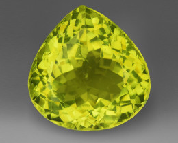 18.26Ct Natural Lemon Quartz Top Class Top Cutting Gemstone. LQ 12