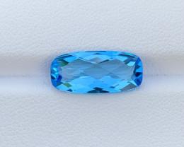 5.45 Cts Natural Blue Topaz Gemstone Good Luster