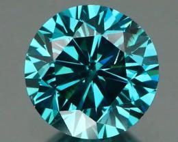 *NR* Vibrant Blue Diamond Round 0.51ct