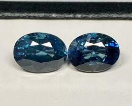 2.21ct tw Sapphire - Australia/Heated Only/Pairs/2pcs/Certified