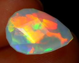 Welo Opal 3.33Ct Master Cut Natural Ethiopian Rainbow Flash Opal C2935