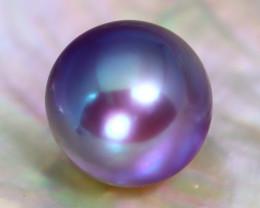 12.1mm 12.54Ct Natural Tahitian Purple Black Pearl C2936