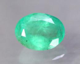 1.74ct Natural Zambia Green Emerald Oval Cut Lot GW8751
