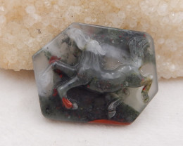 D1759 - 133cts New Design African Bloodstone Carving Horse Gemstone Pendant