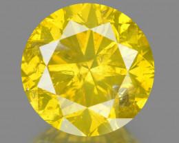Diamond 1.03  Cts Sparkling Fancy Intense Yellow Natural Diamond