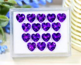 Amethyst 17.37Ct Heart Cut Natural Uruguay Violet Amethyst Lot B3017
