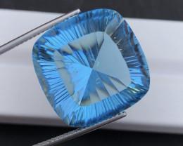 Amazing Laser Cut 42.15 Ct Natural Swiss Blue Color Topaz