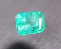 1.38ct Natural Zambia Green Emerald Octagon Cut Lot V9335
