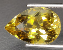 14.80 CTS NATURAL CITRINE PEAR EXCELLENT UNHEATED