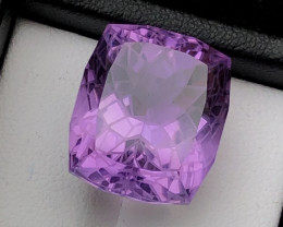 Top Grade 25.40 ct Fantastic Flower Cut Amethyst Ring Size~Q