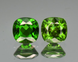 Natural  Green Chrome Diopside 2.17  Cts,Matched Pair.