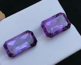 14,CT 2 Pieces Fancy Cut Purple Amethyst - Africa