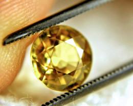 2.80 Carat VVS1 Golden Yellow Zircon (7.8mm) - Gorgeous