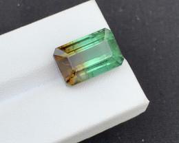 Top Grade 12.44 Carats Natural Bi color Tourmaline Gemstone