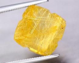 6.85ct Natural Gold Needle Rutile Quartz Square Cut Lot LZ7983
