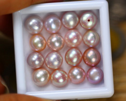 43.06Ct Natural Fresh Water Pearl Cultured Drill Lot LZ8009