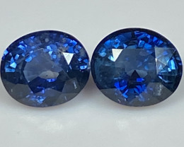 2.20ct tw Blue Sapphire - Heated Only/6.26 x 5.41mm/Certified