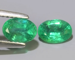 1.40 CTS IMPRESSIVE OVAL BEST COLLECTION OF NATURAL COLOMBIAN EMERALD