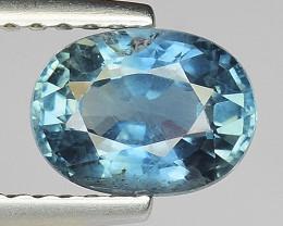1.47Ct Untreated Blue Sapphire Good Quality  Gemstone. BS 08