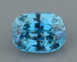 BLUE ZIRCON 3.75 ct AAA CLARITY AND BRILLIANCE CAMBODIA SKU.17