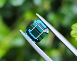 NO TREAT 1.46 CTS NATURAL STUNNING TOP QUALITY INDICOLITE BLUE TOURMALINE