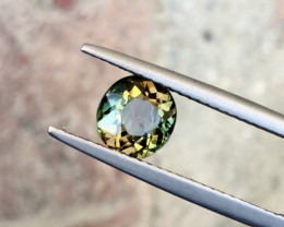 1.50 Carats Natural Tri Color Tourmaline Cut Stone from Africa