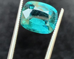 3.25 carats indicolite  Tourmaline Gemstone From  Afghanistan