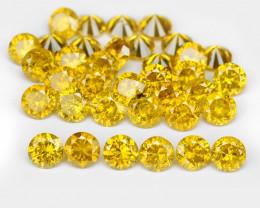 Diamond 3.54 Cts 36Pcs Sparkling Vivid Yellow Natural