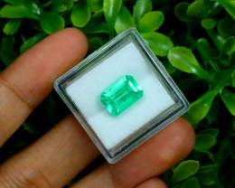 Muzo 2.81Ct Natural Colombian Emerald Neon Mint Green Beryl C3102