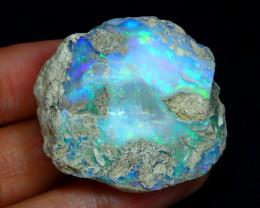 Welo Opal Rough 94.07Ct Natural Ethiopian Flash Color Rough Opal C3123