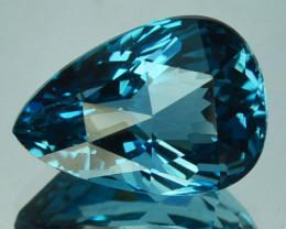 5.98 Cts Beautiful Natural London Blue Topaz Pear Cut USA