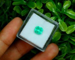 Muzo 1.28Ct Natural Colombian Emerald Neon Mint Green Beryl C3135