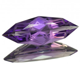 ~CUSTOM CUT~ 9.30 Cts Natural Purple Amethyst Fancy Marquise Bolivia