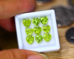5.41Ct Natural Green Peridot Heart Cut Lot LZ8015