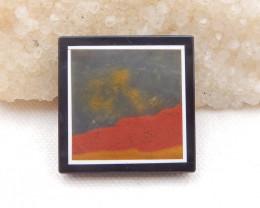 D1802 - 72.5cts Natural Jasper,White Agate,Obsidian Intarsia Pendant Bead