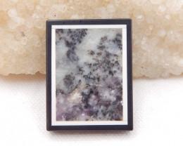 D1803 - 76cts Natural Jasper,White Agate,Obsidian Intarsia Pendant Bead