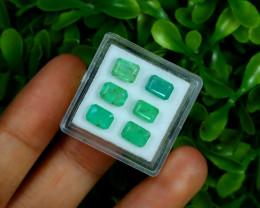Zambian 4.53Ct Octagon Cut Natural Green Emerald Lot Box F3008