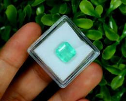 Muzo 2.80Ct Natural Colombian Emerald Neon Mint Green Beryl B3205