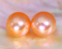 7.9mm 7.01Ct Natural Australian South Sea Orange Color Pearl F3017