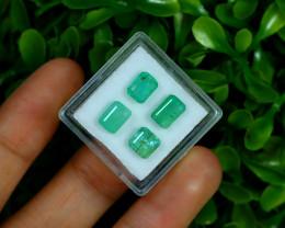 Zambian Emerald 4.29Ct Octagon Cut Natural Green Emerald Lot Box F3018