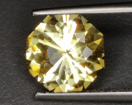 6.30 CTS NATURAL CITRINE  FANCY CUT ROUND EXCELLENT UNHEATED